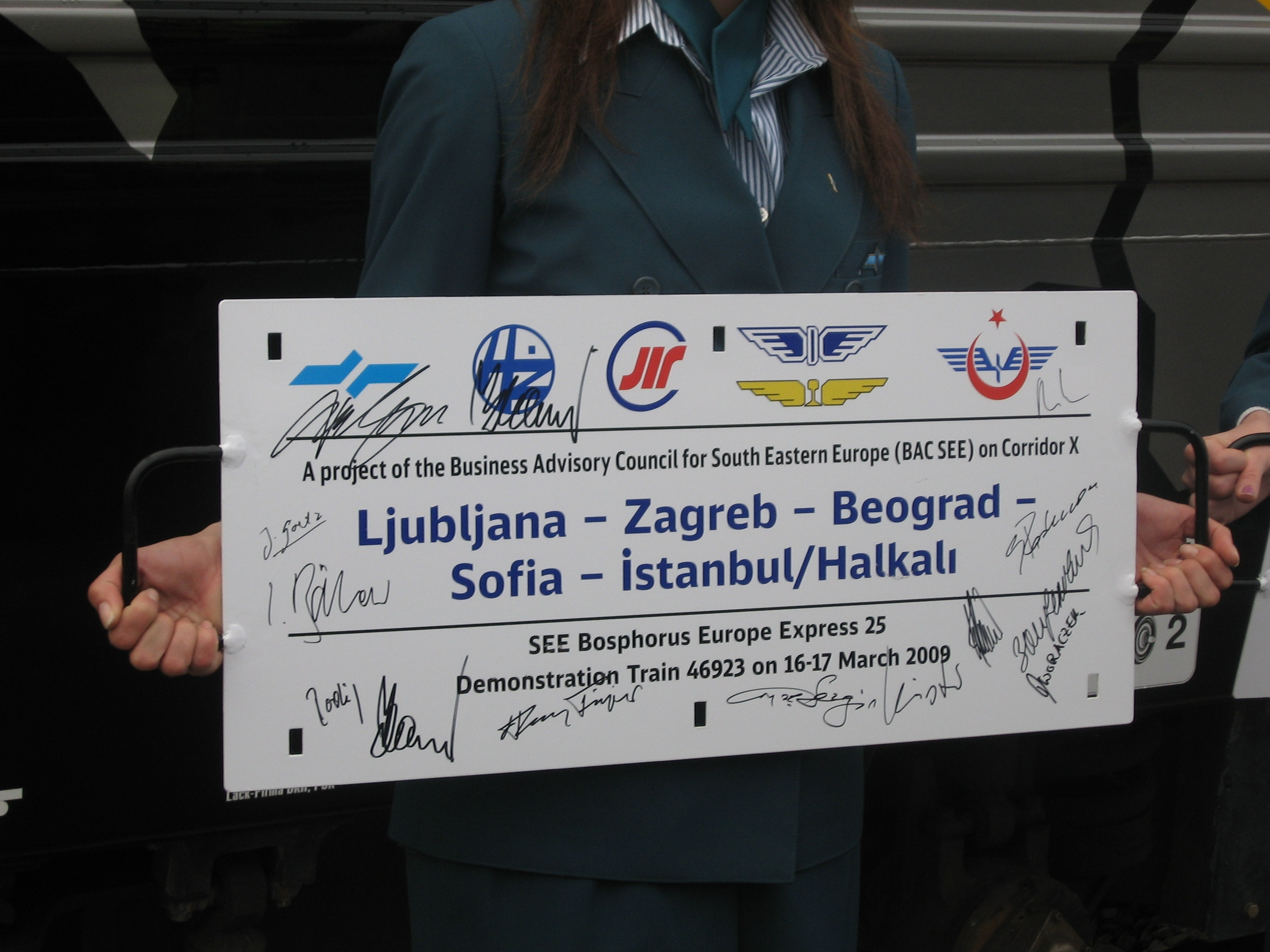 On 16 March the container train named