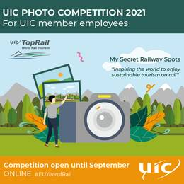"UIC TopRail Photo Competition 2021 themed around ""My Secret Rail Spots"""